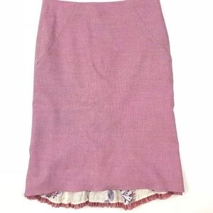 Anthropologie Elevenses Pink Wool pencil Skirt